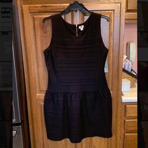 NWT! Worthington- Black dress with Gold zipper
